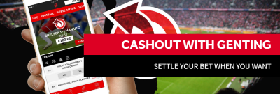 Cash out is available on the football markets.
