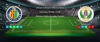 Tips for Getafe vs. Leganes on 30 March 2019