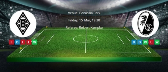 Tips for Borusia Monchengladbach vs. Freiburg on 15 March 2019