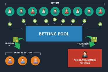 A graphic demonstration of pari-mutuel betting