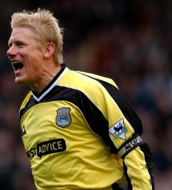 Peter Schmeichel was voted the best goalkeeper in the Premier league