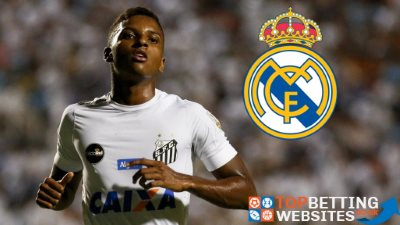 Rodrygo Goes arrives at Real Madrid.