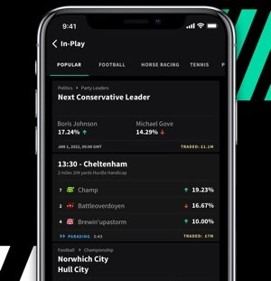 Live betting with Smarkets is an ease.