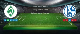 Tips for Werder Bremen vs. Schalke 04 on 08 Mar 2019