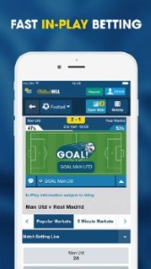 Bet in William Hill on the go.